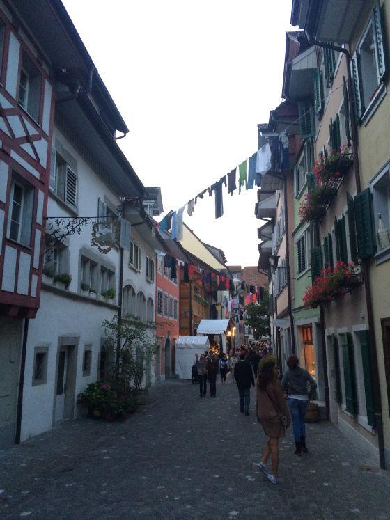 A pretty street in Zug - Zurich, Switzerland  from A Long Weekend in Zurich, Switzerland on StefanieGrace.com