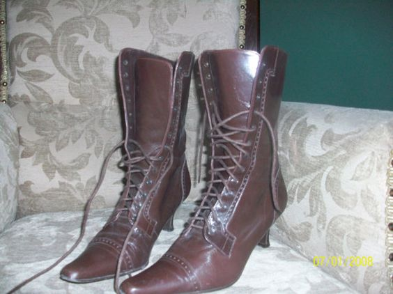 vintage victorian lace up boots UK SIZE 5 / 38  softy by vsharples