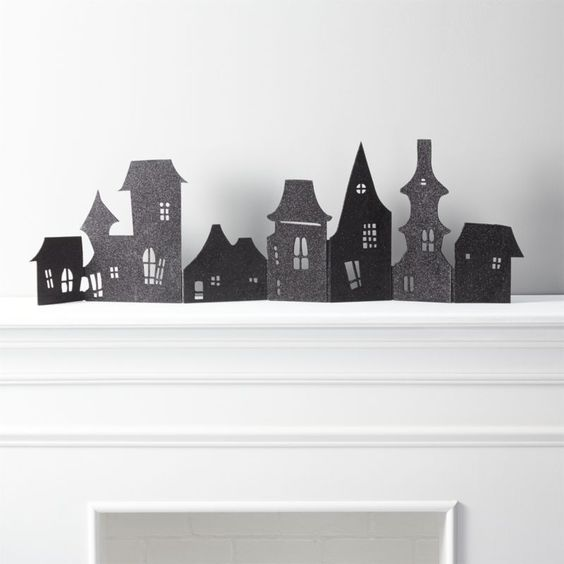 Haunted Village Halloween Decoration | Crate and Barrel: