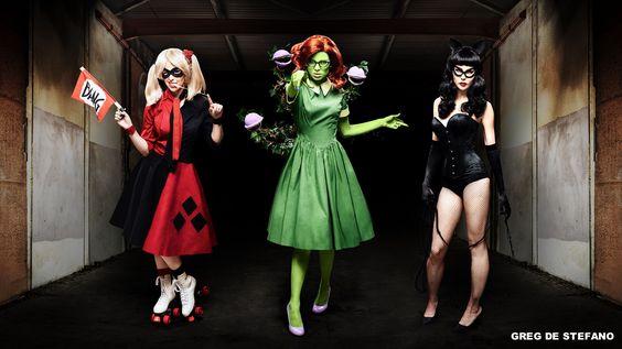 50u0027s Rockabilly Batman Villains Harley Quinn Meg Turney, Poison