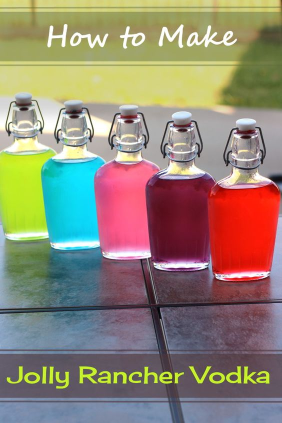 Jolly Rancher Vodka is so easy to make, and tastes just like the candy. Get the tutorial at http://mixthatdrink.com/jolly-ranchers-vodka/