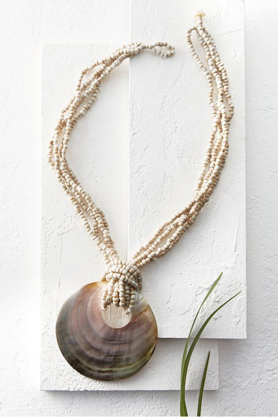 Beach Nature Natural sea shell necklace Shell necklace Necklace shell Necklace mother of pearl Ibiza necklace Boho Necklace beach