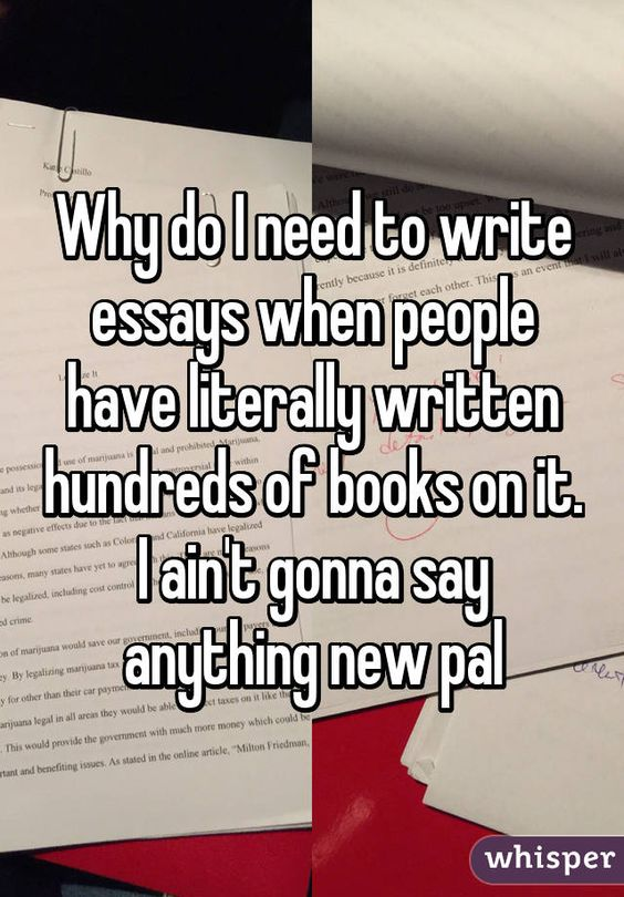 College essays people have written