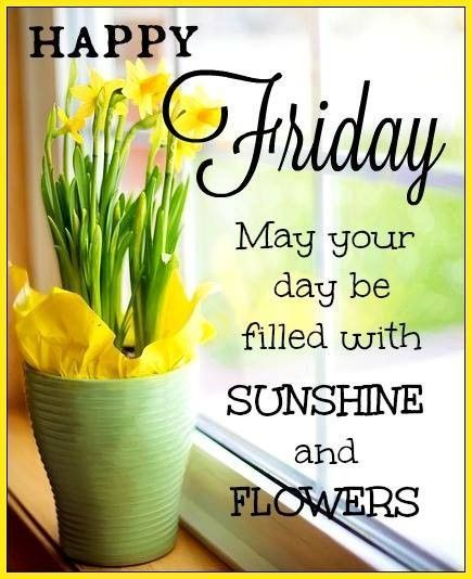 Sunshine And Flower Happy Friday Quote