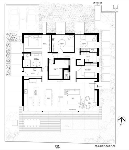 Gallery Of Bare House By The Fields Jacobs Yaniv Architects 11 In 2021 Architect Architect House How To Plan