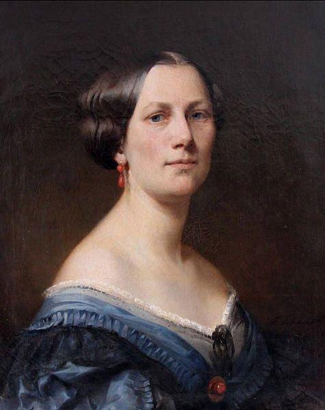 Portrait der Ehefrau des Malers.  1863, Ferdinand Schauss (1832-1916)