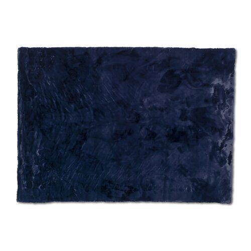 Schoner Wohnen Kollektion Tender Faux Fur Polyester Midnight Blue Rug Rugs Midnight Blue Decorative Accessories