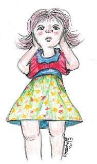 Niña. Dibujo en Acuarela. (watercolor)