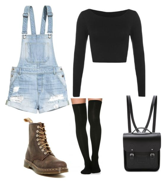 Untitled #10 by jessicafong on Polyvore featuring polyvore, fashion, style, H&M, Dr. Martens and The Cambridge Satchel Company