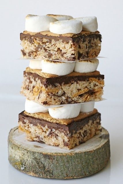 s'mores rice krispies treats • glorious treats