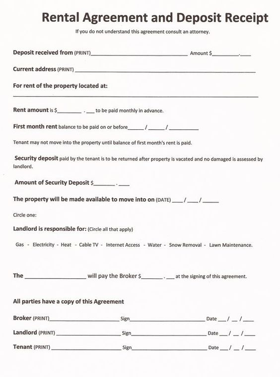Printable Sample Free Lease Agreement Forms Form – Free Printable Rental Agreement Form