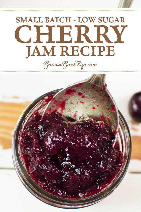 Small Batch Sweet Cherry Jam Recipe