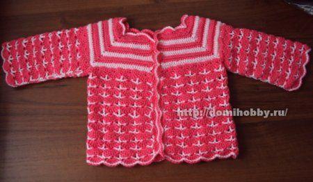 Ganchillo suéteres que hacen punto para el bebé