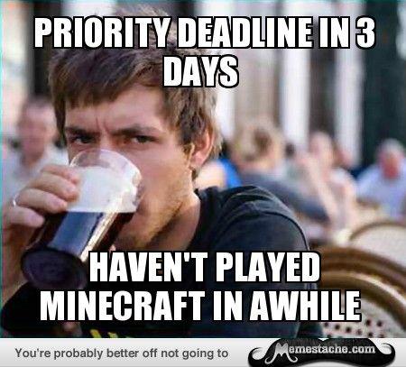 LazySenior: Priority deadline in 3 days...