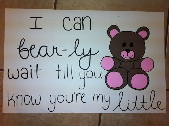 I can bear-ly wait till you know you're my little