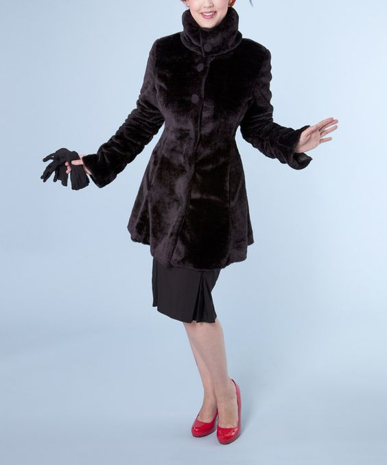 Look at this Black Devil Short Coat - Plus on #zulily today!