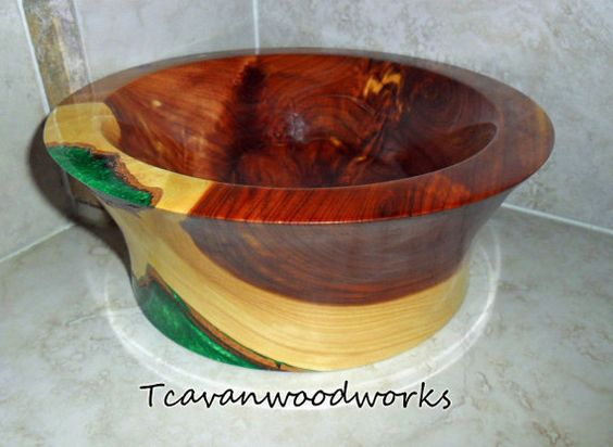 Glow Turned Wood And Emerald Green On Pinterest