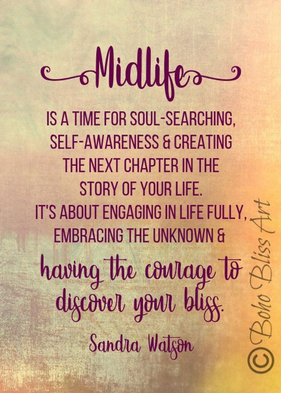 Midlife is a time for soul-searching, self-awareness & creating the next chapter in the story of you
