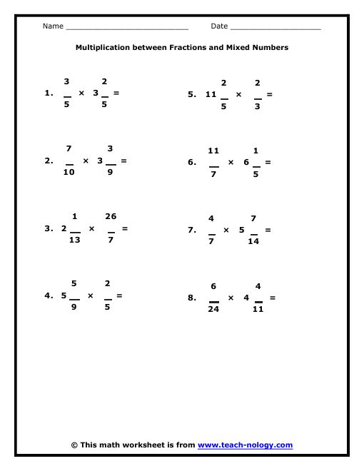 6 grade math worksheets | 6th Grade Standard Met: Products of ...