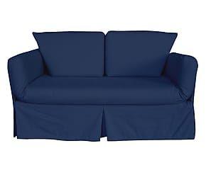 Divano letto a 2 posti Oasi blu - 150x95x80 cm
