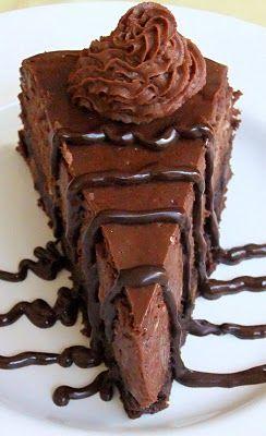 Hershey's Dark Truffle Brownie Cheesecake