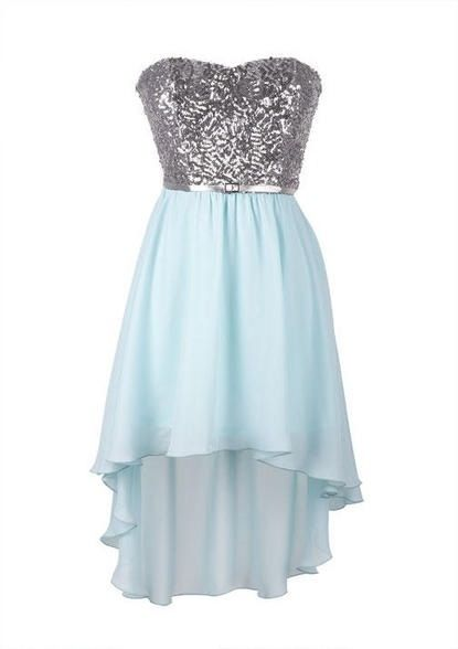 Cute Short Blue and Silver prom dress | Prom | Pinterest | Silver ...