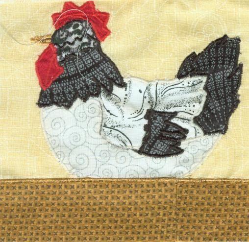 free applique patterns of chickens | Free Applique Quilt Block ... : chicken quilt block - Adamdwight.com
