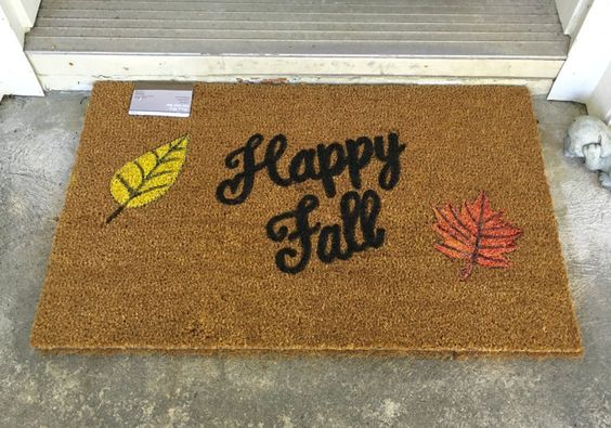 A personal favorite from my Etsy shop https://www.etsy.com/listing/475164983/custom-door-mat-welcome-mat-happy-fall