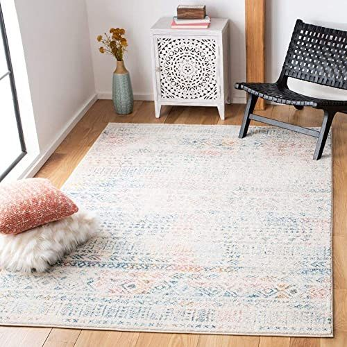 The Perfect Safavieh Tulum Collection Tul263a Boho Moroccan Distressed Area Rug 9 X 12 Ivory Terracotta Home D In 2020 Chic Area Rug Rustic Area Rugs Colorful Rugs