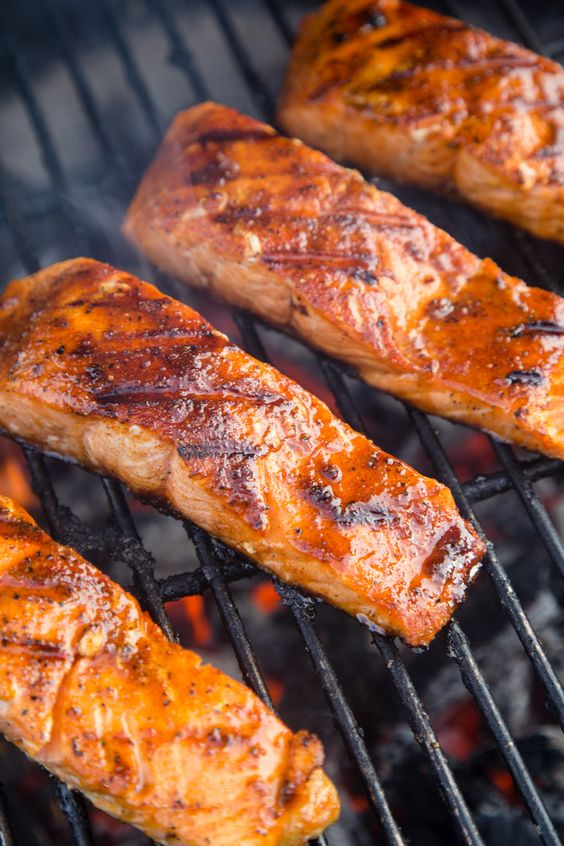 Grilled Salmon with Orange Maple Sweet Glaze