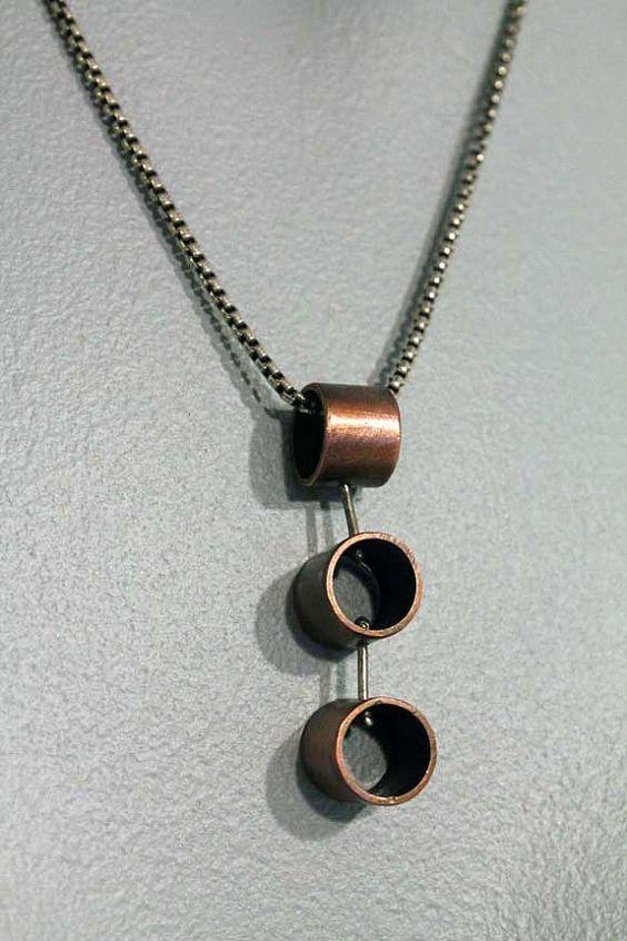 Collar de tubería de cobre reciclado por OnocleaStudios en Etsy