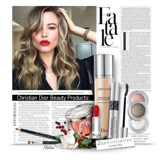 """""""Fatale"""" by thewondersoffashion ❤ liked on Polyvore featuring beleza, Christian Dior, BeautyTrend, ChristianDior, CelebrityStyle e behatiprinsloo"""