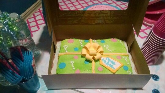 Gender Reveal Cake Made By Walmart Gender Reveal Party
