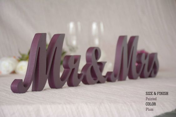 Plum Wedding Decorations Plum Sign Plum by WeddingGlitterSign