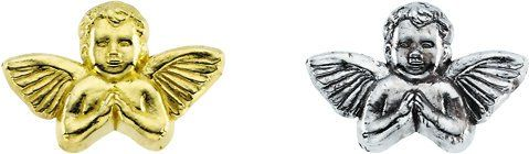 Amazon.com: 14K Yellow or White Gold Angel Lapel Pin 11mm x 16mm (White Gold): Jewelry