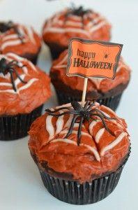 Halloween Chocolate Spider Cupcakes