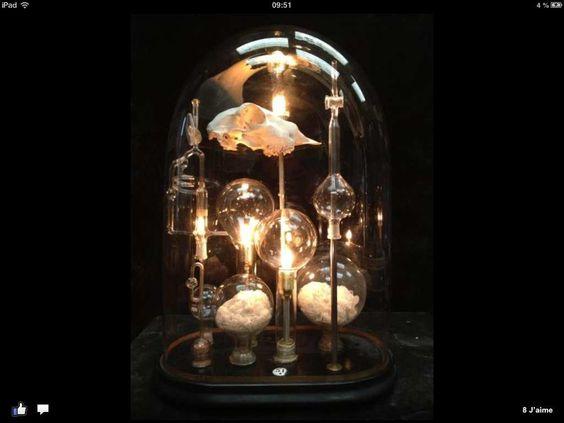 """Lampe """"Curiosité"""" n°12 - HODS DESIGN ANTIQUES"""
