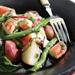combination of green beans, snappy radishes, earthy red potatoes ...