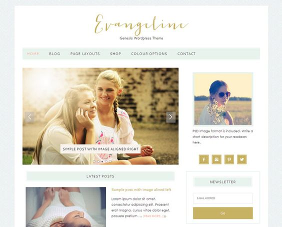 Wordpress Premade Blog / Responsive Genesis  WordPress by LovelyConfetty, $46.00