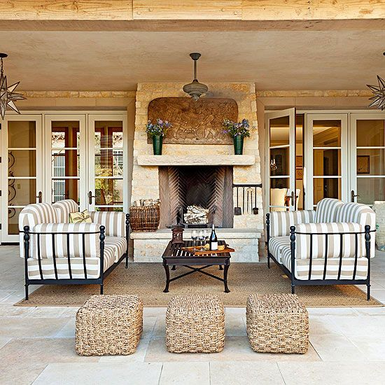Outdoor Living Covered Patios And Fireplaces On Pinterest