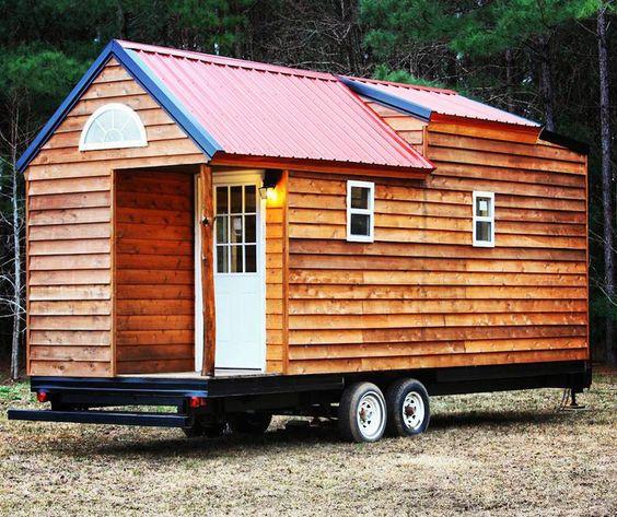 free range A custom 218 square feet tiny house on wheels in