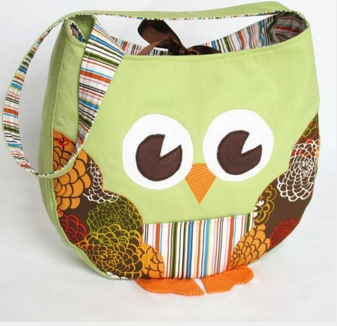 Funky Little Owl Bag Sewing Pattern  by  Pattern Play Designs