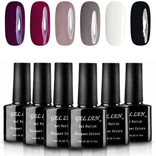 Gellen Classic Elegant Colors Uv Gel Nail Polish Set Pack Of 6 Colors Nail Polish Gel Nail Polish Set Uv Gel Nail Polish
