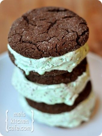 ~~Chocolate-Mint Chip Ice Cream Sandwiches from Mel's Kitchen Cafe~~