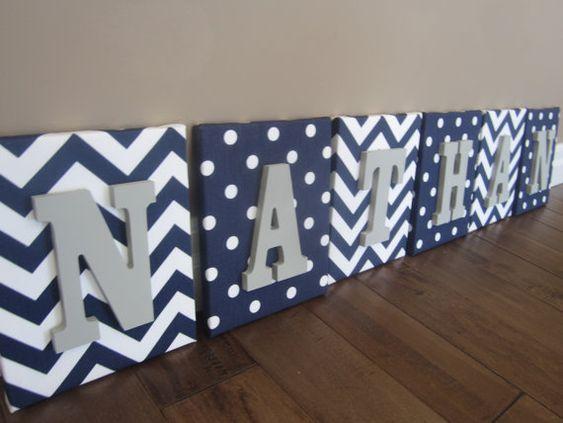 Wall Canvas Letters Nursery Decor Nursery Letters by NurseryShoppe, $14.99