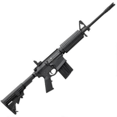 """Winner of the NRA Golden Bullseye Award! DMPS GII AP4 AR-10 semiautomatic rifle. .308 Winchester, 16"""" lightweight and chrome-lined barrel. Holds 20 rounds. Has collapsible stock and weighs only 7.25 pounds. Not even $1200! Click the picture to see the low price!"""