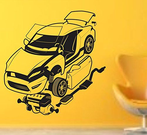 Auto Mechanic Version  Vinyl Wall Decal Sticker Car Window - Vinyl wall decals application instructions