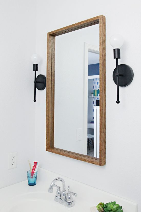 IHeart Organizing: DIY Wood Framed Mirror