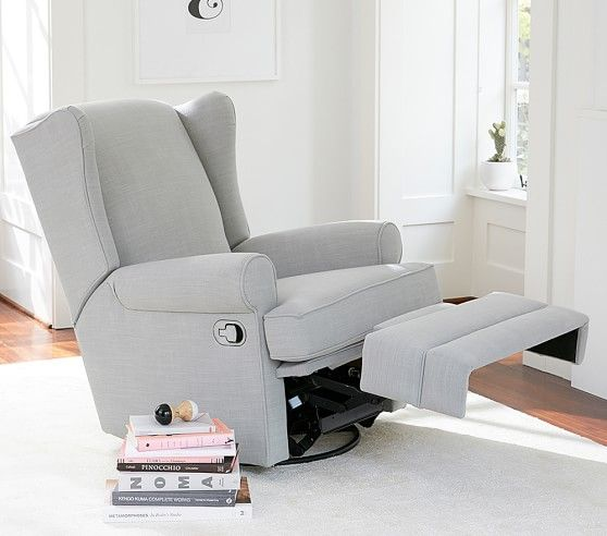 Wingback Swivel Glider Recliner In 2021 Swivel Glider Recliner Nursing Chair Baby Furniture Rocker glider recliner with ottoman