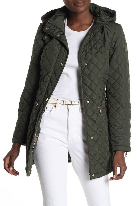 Quilted Hooded Trench Coat Hooded Anorak Jacket Anorak Jacket Hooded Trench Coat
